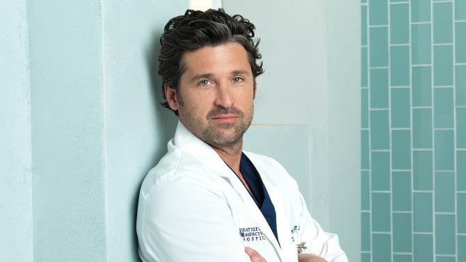 Patrick Dempsey in un'immagine promozionale di Grey's Anatomy
