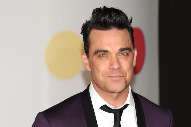 Robbie Williams in primo piano