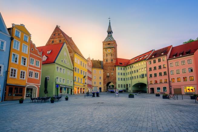 La città vecchia di Landsberg am Lech