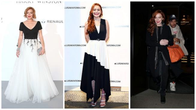 Il look di Lindsay Lohan oggi