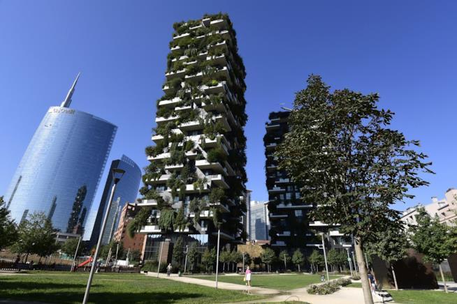Bosco verticale a Milano.