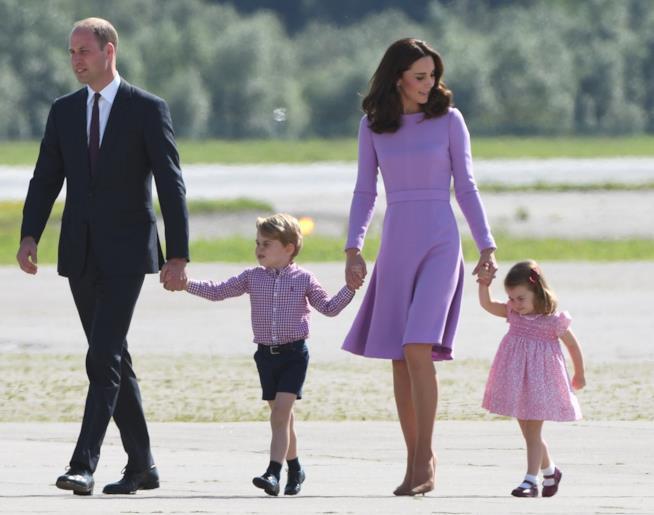 Kate e William con i figli George e Charlotte