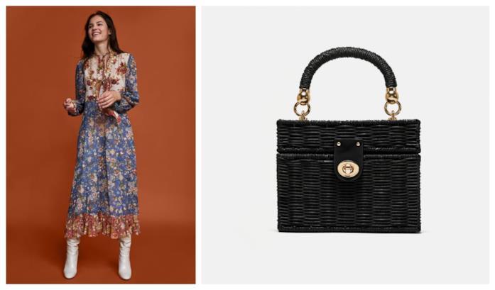 Borsa di Zara modello wicker di moda per l'autunno 2018