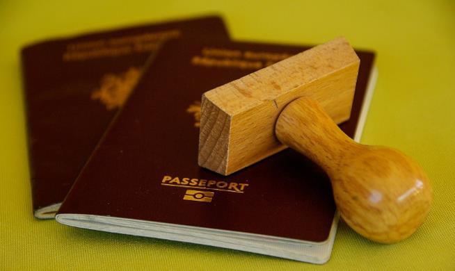 Passaporti con timbro