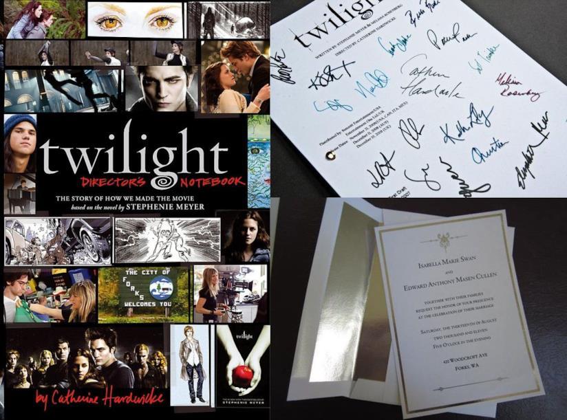 Libri e repliche di oggetti di scena di Twilight