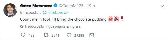 Tweet Gaten Matarazzo sulla festa Stranger Things