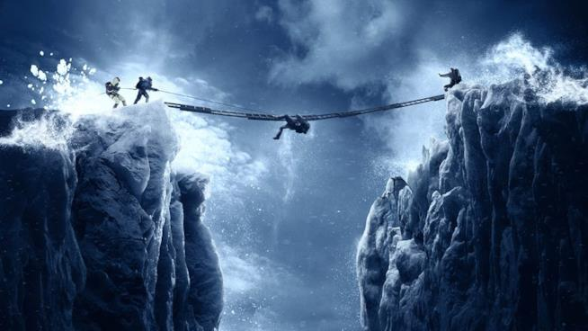 Una scena del film Everest