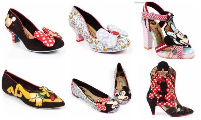 Collage di Scarpe Minnie e Topolino, Paperino e Pluto