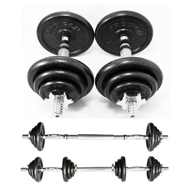 Set di manubri componibili per allenarsi