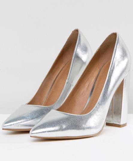 Scarpe argento Asos per Natale