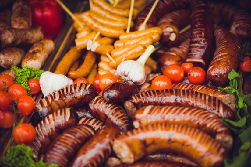 grigliata di salsicce