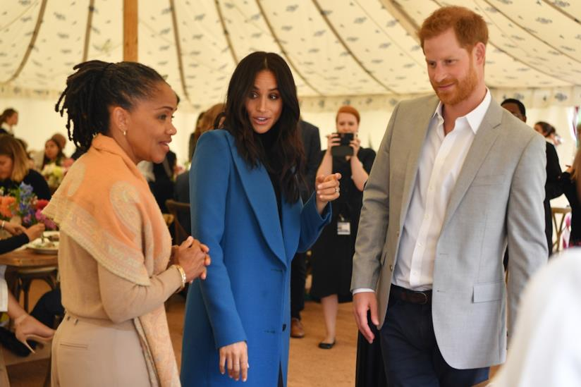 Doria Ragland, Meghan Markle e il Principe Harry