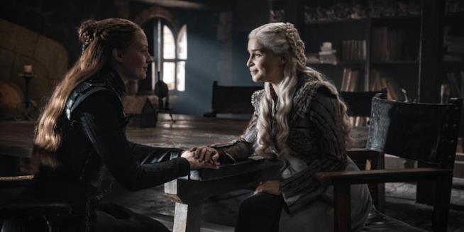 Sansa e Daenerys in Game of Thrones 8