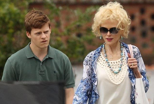 Nicole Kidman e Lucas Hedges durante le riprese di Boy Erased