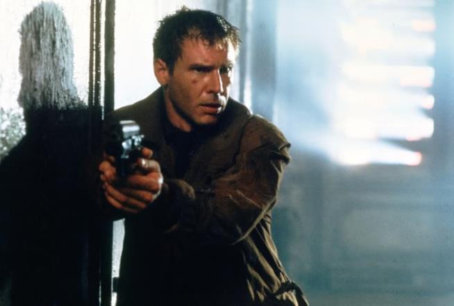 Harrison Ford interpreta Rick Deckard in Blade Runner