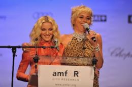Madonna e Sharon Stone all'amfAR