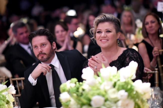Kelly clarkson con il marito  brandon blackstock