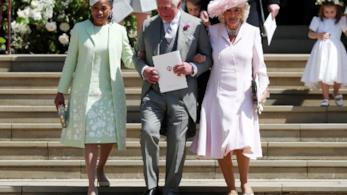 Il Principe Carlo con Camilla e la madre di Meghan Markle