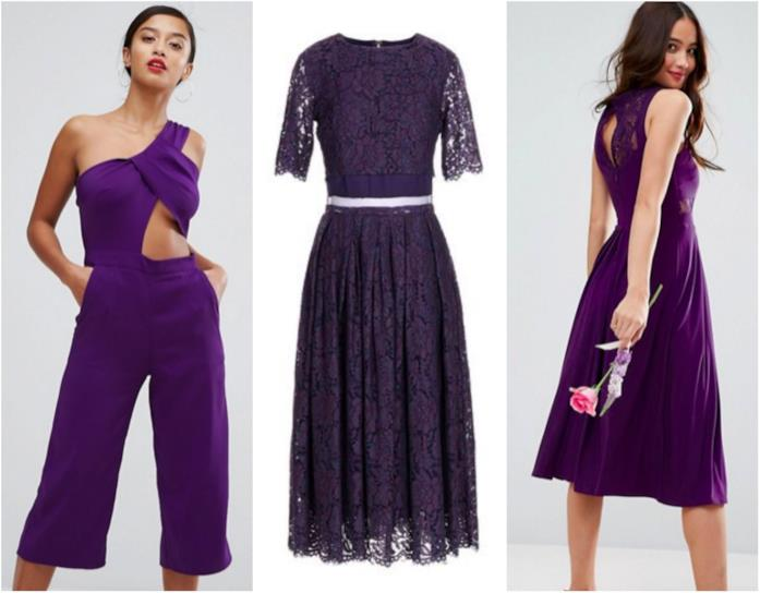 Collage di outfit Ultraviolet