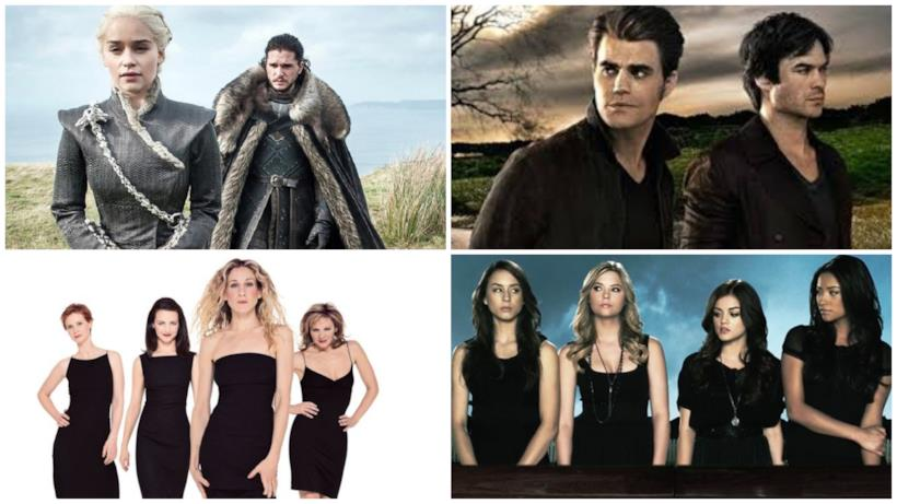 Il Trono di Spade, The Vampire Diaries, Sex and the City, Pretty Little Liars
