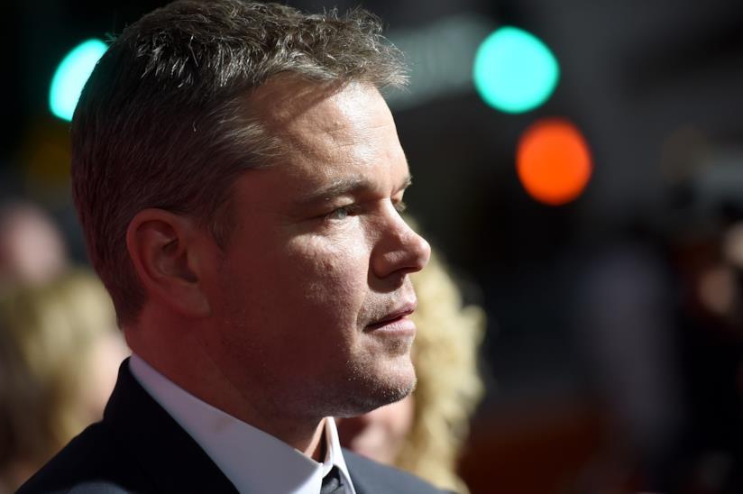 L'attore americano Matt Damon di profilo