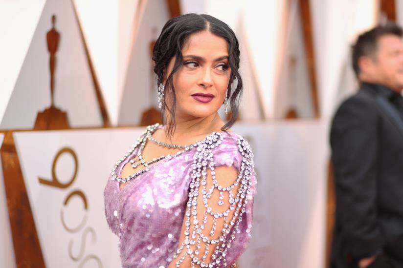 L'attrice Salma Hayek sul red carpet