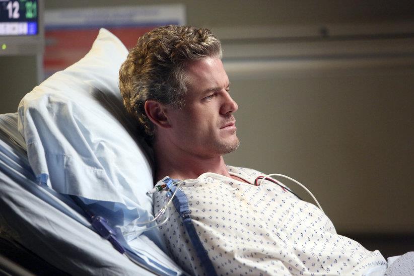 Mark Sloan in una scena di Grey's Anatomy 9 prima di morire