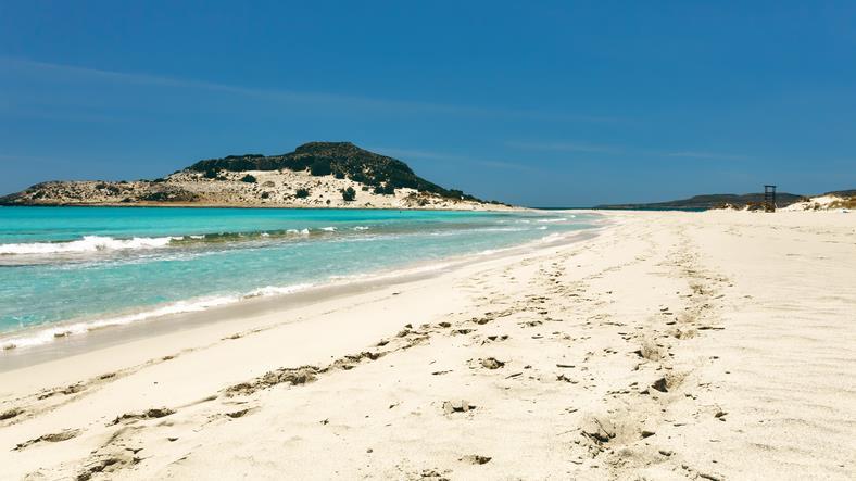 Spiaggia sabbiosa a Elafonissos.