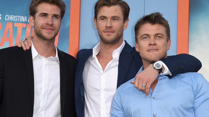 Liam, Chris e Luke Hemsworth
