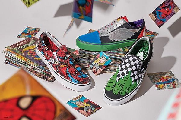 Scarpe della linea Vans x Marvel