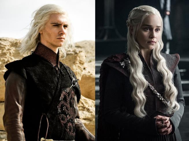 Un collage tra Daenerys Targaryen e il fratello