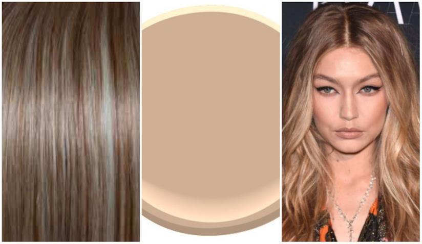 Un collage di capelli Cream Soda