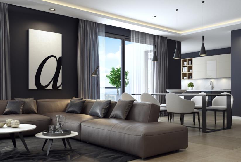 Interior design in nero per la casa eleganza in ogni ambiente for Mobili neri
