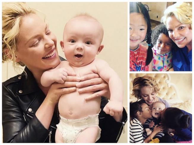 Alcuni scatti di Katherine Heigl con i suoi figli