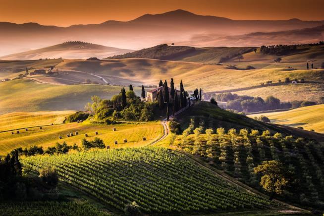 valle del Chianti, Toscana panorama