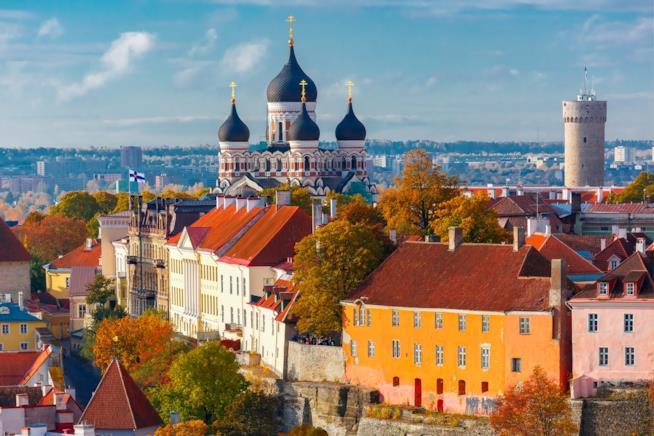 La città vecchia di Tallinn in Estonia