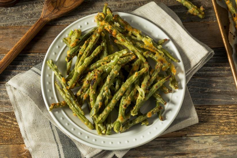 Piatto con verdura cotta al parmigiano