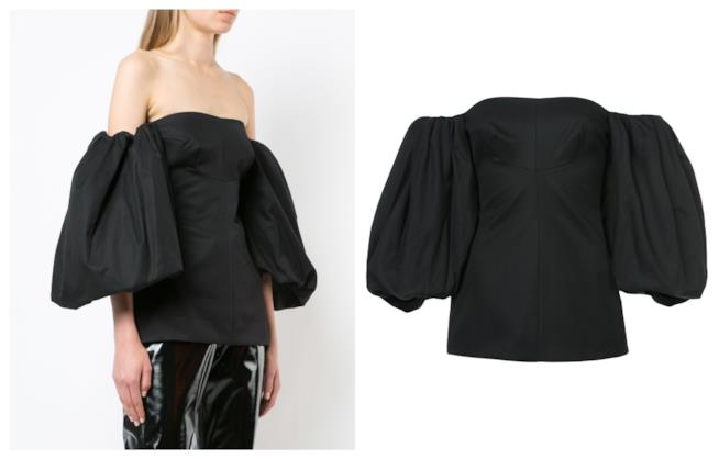 Blusa off-the-shoulder per l'estate 2018