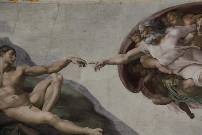 Un affresco della volta della Cappella Sistina