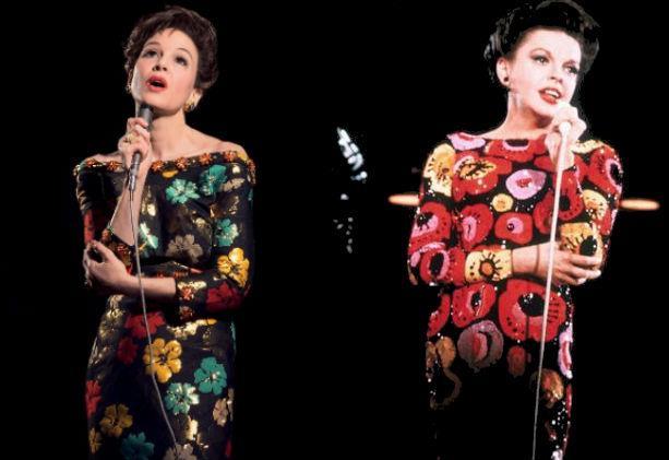 Le attrici Judy Garland e Renée Zellweger