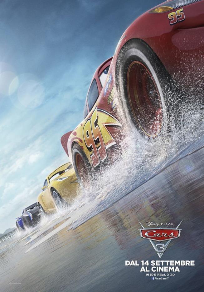 Il poster di Cars 3