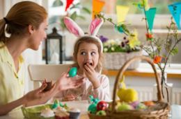 Mamma e figlia a Pasqua