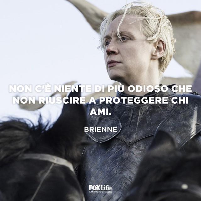 Brienne con l'armatura
