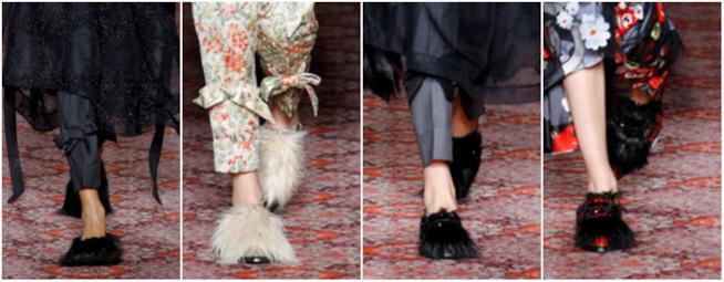 Collage di pantofole per Simone Rocha