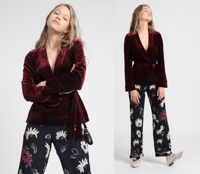 Giacca in velluto di moda per l'autunno 2018