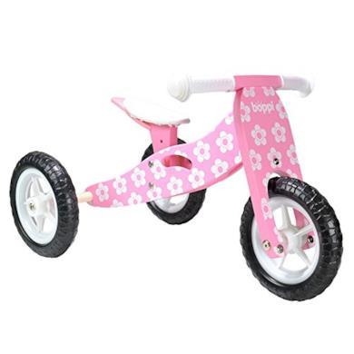 Triciclo in legno rosa