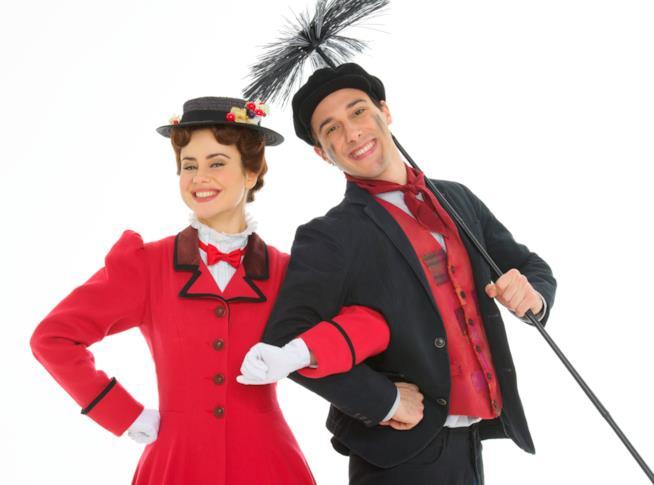 I protagonisti di Mary Poppins - Il musical ritratti da Alessandro Pinna
