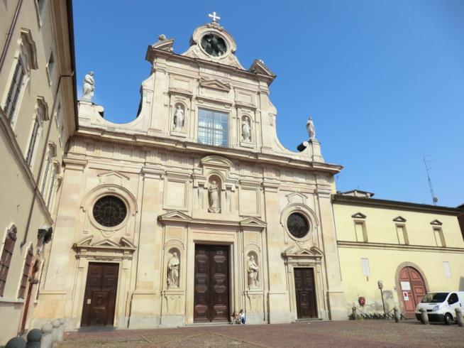 La facciata della Chiesa di San Giovanni Evangelista