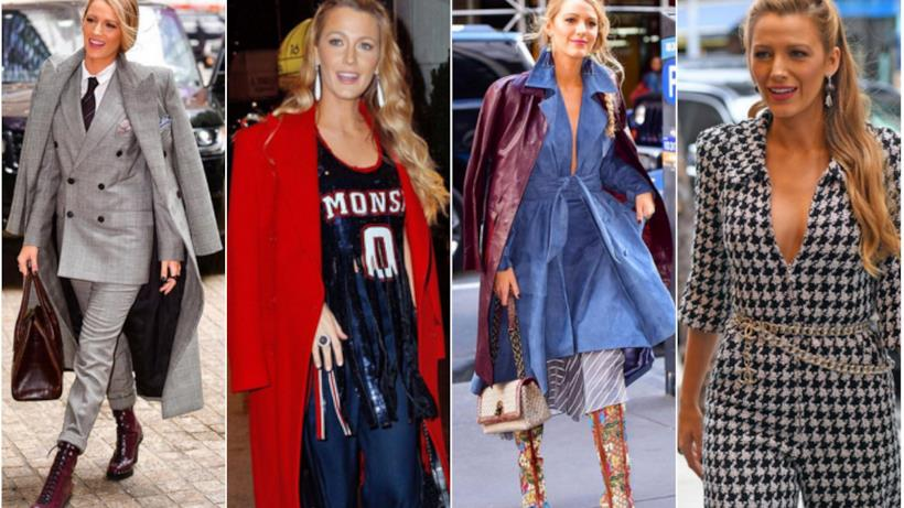 Un collage tra i look di Blake Lively