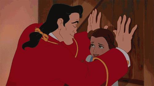 Belle e Gaston ne La Bella e la Bestia